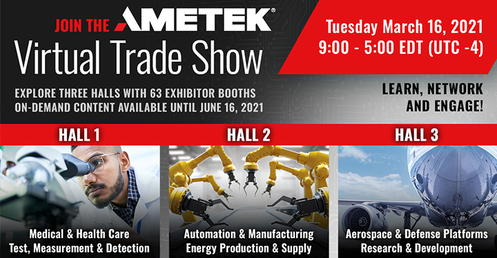 AMETEK virtual tradeshow