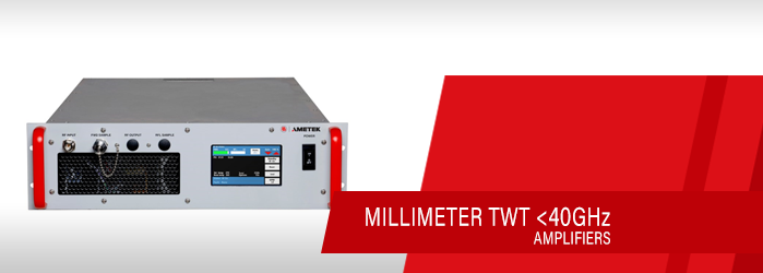 40 GHz millimeter twt amplifiers